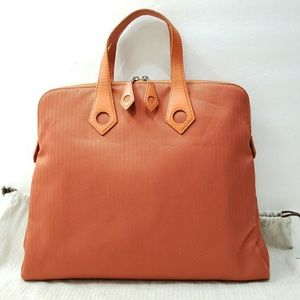Hermes Sac Ever Iboo PM Orange Chevron Satchel Bag